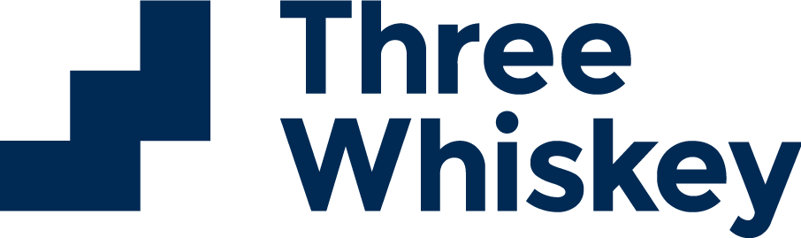three whiskey company logo